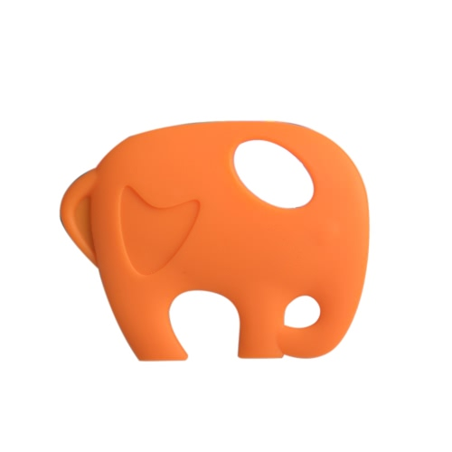 BPA Free Food Grade Silicone Elephant Toddler Teething Toys for Baby Teether Chew Teething Necklace Accessory