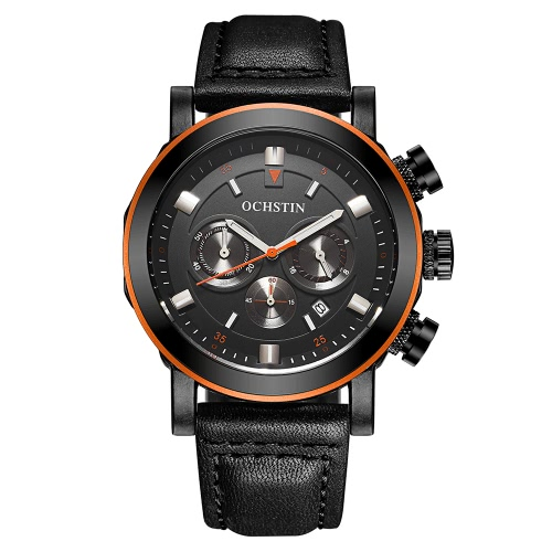 OCHSTIN  Genuine Leather Quartz Luminous Men Watch