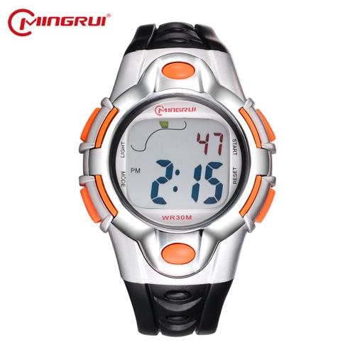 Mingrui 3ATM Niños multifuncionales resistentes al agua Reloj Boys & Girls Deportes Relojes de pulsera Relojes digitales Student Alarma Retroiluminación