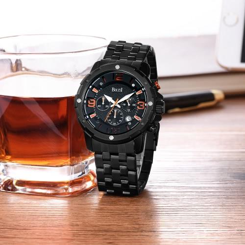 Bolisi Fashion Casual Quartz Watch 3ATM résistant à l'eau Montre Homme Montres-bracelets Calendrier masculin