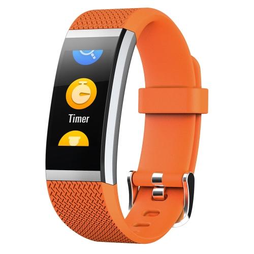 """BT4.0 Banda de pulso inteligente à prova de agua 0,96 """"colorida tela sensível ao toque pulseira inteligente Fitness Tracker Freqüência cardíaca Pedômetro Sleep Monitor Alarme compatível IOS e Android"""