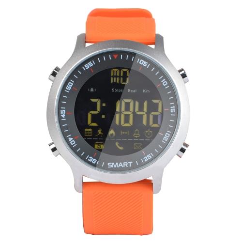 Smart Watch FSTN Display BT 4.0 Fitness Tracker Podómetro Cronómetro Reloj de pulsera inteligente de cámara remota para iOS 7.0 y Android 4.3
