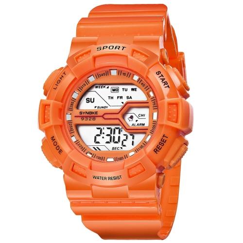 SYNOKE Fashion Sport Niños Relojes 3ATM resistente al agua Digital Backlight Students Kids Reloj de pulsera Cronómetro de alarma