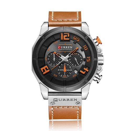 CURREN Fashion Sport Genuine Leather Men Watches