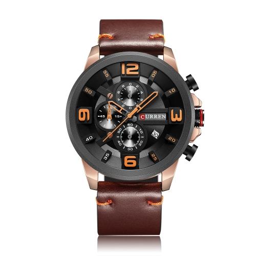 Relojes CURREN Fashion Sport Genuine Leather Men