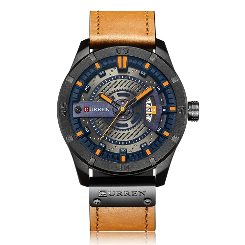 CURREN Fashion Genuine Leather Men Watches