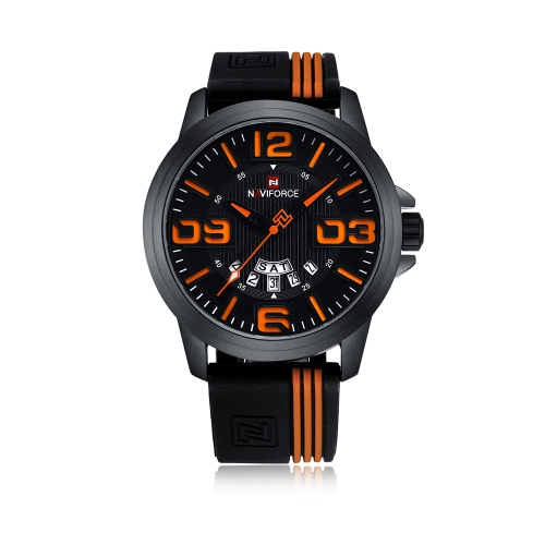 NAVIFORCE Fashion Men Watch 3ATM Water-resistant Quartz Casual Man Wristwatch Relogio Musculino Week