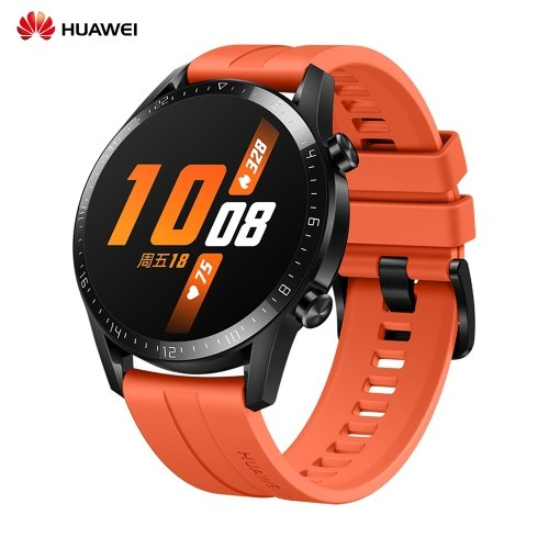 HUAWEI WATCH GT 2 46mm 5ATM Waterproof Sport Smartwatch Smart Watch with BT5.1 Music Download Player 14 Days Standby Heart Rate Rhythm Sleep Pressure Monitor GPS Fitness Activity Tracker Pedometer Calories Stopwatch Timer Weather for Android / iOS Men Wom