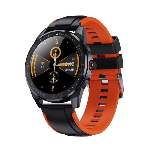 1.28'' Touch Smart Watch Multi-Sport Mode Features Heart Rate Monitoring Breath Training Scientific Sleep IP68 Waterproof Fitness Tracker Smartwatches for Men Women Compatible with Android/ iOS Silicone Band