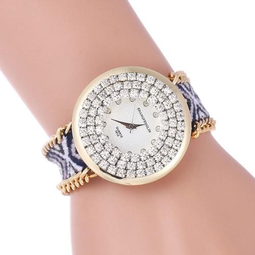 Mode Casual Young Lady Weave Bracelet Armbanduhr aus Gewirken Seil Gurt Mädchen Student Quarz verkleiden sich Watch
