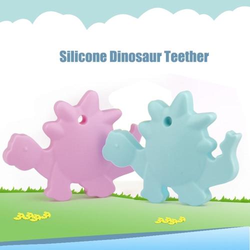 100% качество еды силикона младенца Ручной Динозавр животных прорезыватель Зубные ожерелье жевать Подвеска для малышей для кормящих мам ювелирных игрушек носить BPA бесплатно