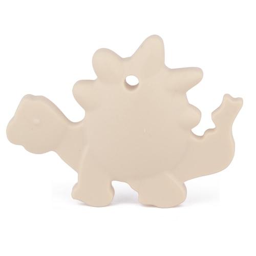 100% Food Grade silikonowe dla niemowląt Hand Held Dinosaur Animal Gryzak Ząbkowanie Wisiorek dla Naszyjnik Chew Toddler Pielęgniarstwo Biżuteria Toy mama Wear zawiera Bisfenolu