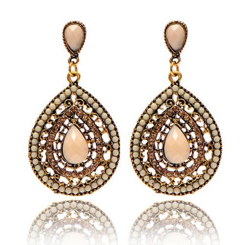 Pendientes de gota de agua de estilo bohemio de estilo de moda para las mujeres accesorio de joyería delicada