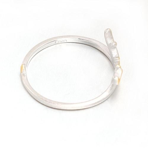 Romacci personalidad moda plata de ley 925 ciervos del Animal del cuerno asta apertura ajustable dedo anillo boda compromiso joyería para la mujer niña