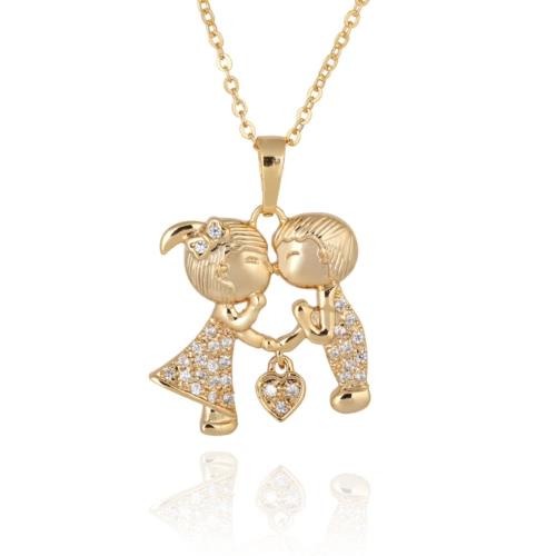 Einfache Art und Weise nette Zirconrhinestone-Kristallherz-Paar Liebhaber Anhänger Halsketteclavicle Kette Schmuck für Mädchen-Frauen-Partei-Verpflichtungs-Geschenk