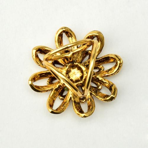 Cinc de la manera Flor metálico mantón de la bufanda hebilla de broche de anillo joyería y accesorios para regalo de las mujeres