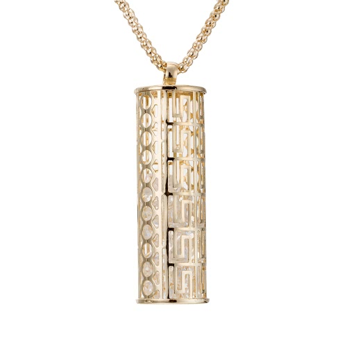 Collar chapado en oro de cobre retro del metal de la moda único de la vendimia con Long Hollow pendiente del suéter joyería de la cadena de vestimenta para las mujeres de las muchachas regalo