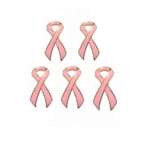 5 PC Art und Weise Schmuck Charme elegante rosa Brustkrebs-Bewusstseins-Band Brosche Clip für Partei-Frauen-Mädchen