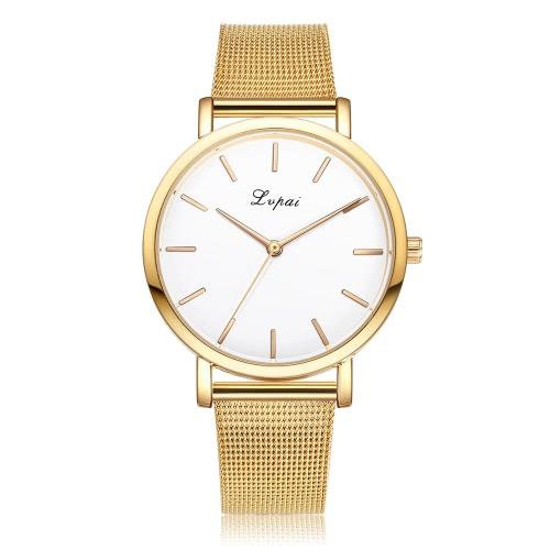 Regalo clásico del estilo de moda Lvpai alta calidad mujeres de la marca del reloj del reloj femenino vestido de niña de cuarzo de la manera del acoplamiento de la venda