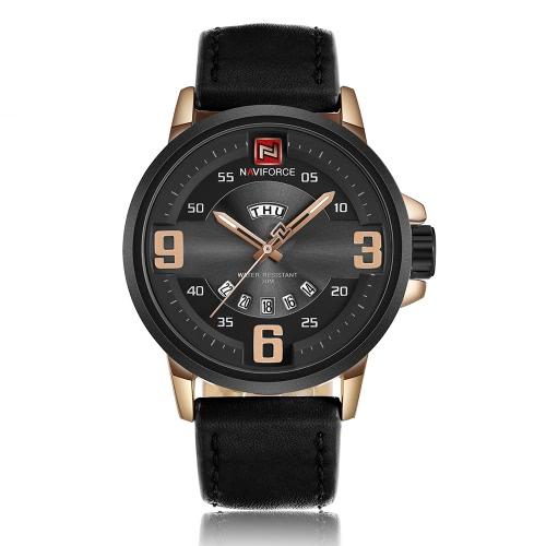 NAVIFORCE 2017 neue Ankunfts-Luminous Quarz-Art- und Mann-beiläufige Armbanduhr 30M Water-Proof Cool Man Uhren Masculino Relogio