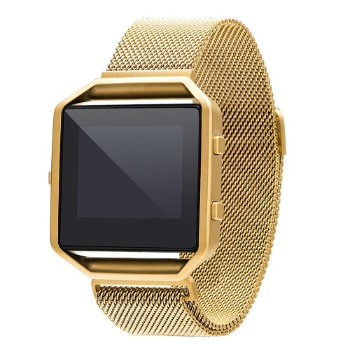 Band for Fitbit Blaze Watch 40mm Stainless Steel Mesh Watch Band Frame Magnetic Buckle Aliança Milanese Loop Replacement Strap for Fitbit Blaze Fitness Watch Black