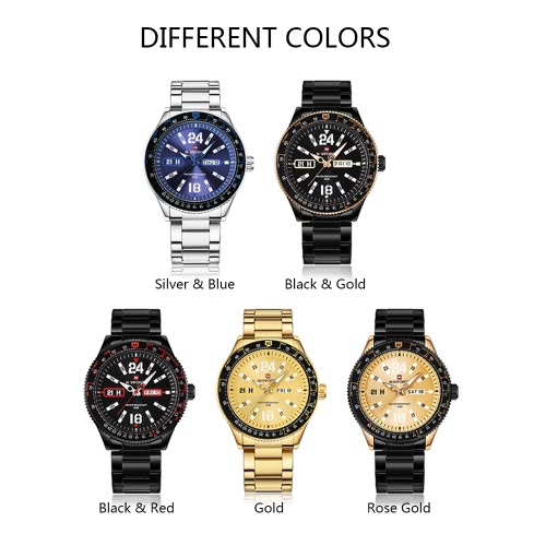 NAVIFORCE Fashion Casual Luxury Watch 3ATM Water-resistant Quartz Watch Luminous Men Wristwatches Male Calendar