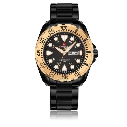 NAVIFORCE Sport Quartz Watch 3ATM Relógios impermeáveis para homens Relógios de pulso luminosos Calendário Masculino