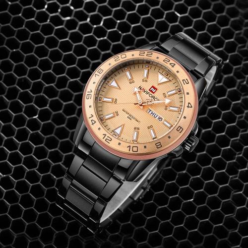 NAVIFORCE Sport Quartz Watch 3ATM Water-resistant Men Watches Luminous Wristwatch Male Calendar