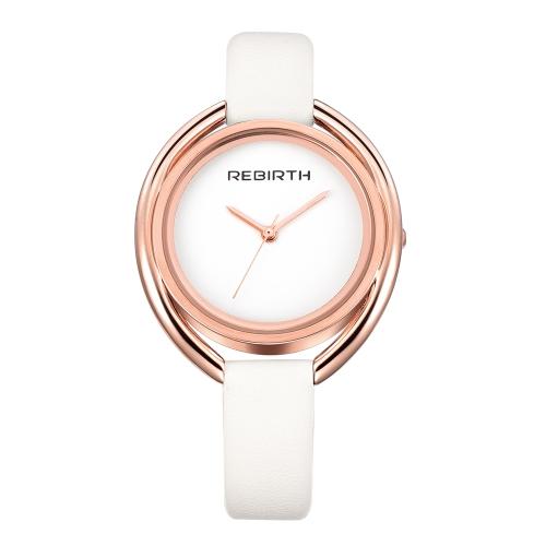 REBIRTH Fashion Casual Cuarzo Reloj 3ATM Resistente al agua Reloj Mujer Relojes de Pulsera Mujer