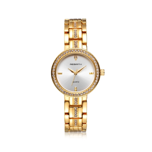 REBIRTH Мода Случайные кварцевые часы Жизнь Водонепроницаемые роскошные часы Женщины Наручные часы Женский