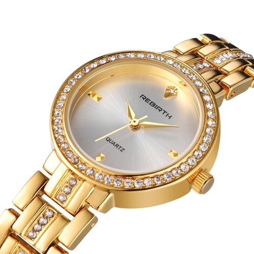 REBIRTH Fashion Casual Quartz Watch Life Water-resistant Luxury Watch Women Wristwatches Female