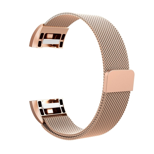 Fashion Mesh Watch Band ze stali nierdzewnej dla Fitbit Charge 2 18mm Watch Strap Bracelet Magnetic Clasp Replacement Band