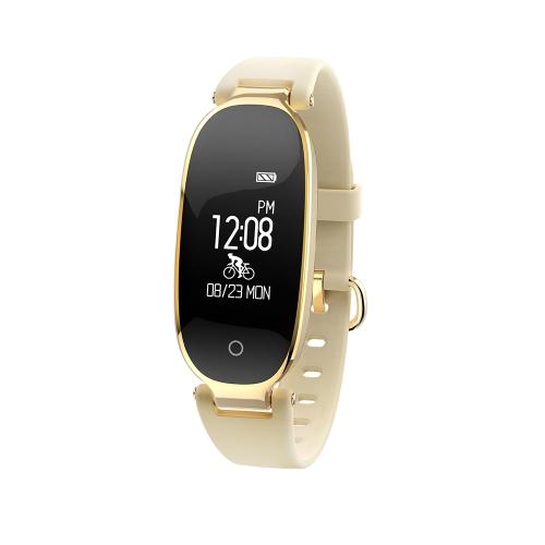 "Pulsera inteligente para mujer 0.96 ""Pantalla táctil BT 4.0 Sleep / Monitor de frecuencia cardíaca Podómetro Smart Brecelet Fitness Tracker para Android 4.3 y iOS 8.0 o superior"