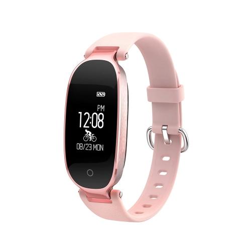 "Woman Smart Wristband 0.96"" Touch Screen BT 4.0 Sleep / Heart Rate Monitor Pedometer Smart Bracelet"