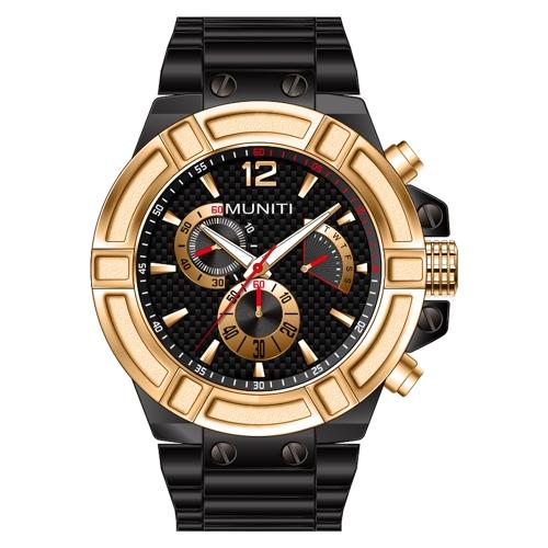 MUNITI Fashion Sport Men Watch Life Reloj de pulsera de hombre luminoso de cuarzo resistente al agua Relogio Musculino