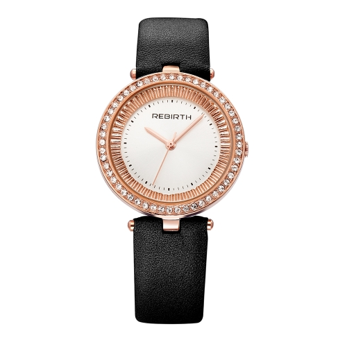 REBIRTH Fashion Luxury Women Watches 1ATM Cuarzo resistente al agua Casual Simple Mujer Reloj de pulsera Relogio Feminino