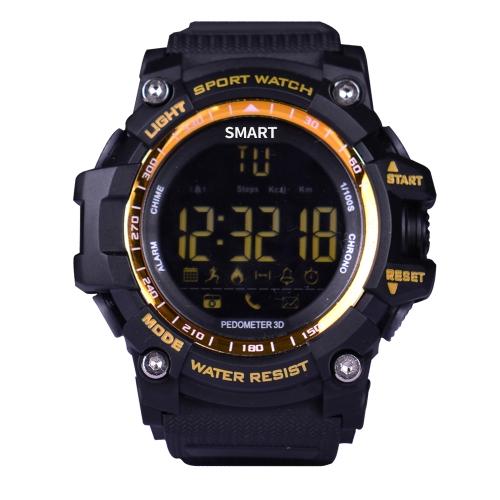 Sport Smart Watch FSTN LCD Display BT 4.0 Fitness Tracker Cuentakilómetros Podómetro Cámara de control remoto Reloj de pulsera para iOS 7.0 y Android 4.3