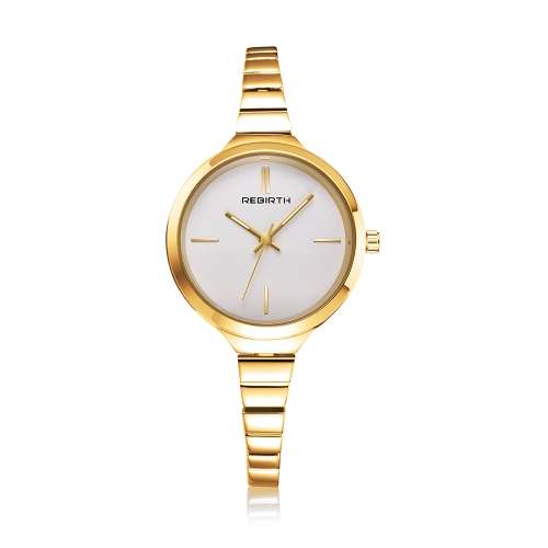 REBIRTH Fashion Luxury Quartz Women Casual Orologio da polso da donna a prova di acqua Ladies Watch Feminio Relogio