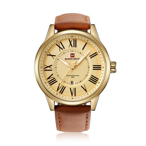 NAVIFORCE hombres de moda relojes 3ATM cuarzo resistente al agua luminoso hombre casual reloj de pulsera masculino Relogio Musculino