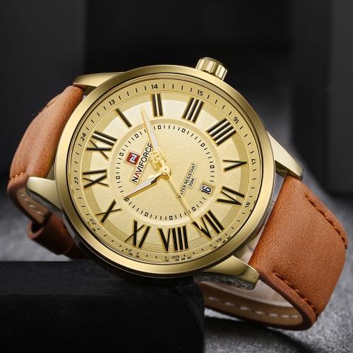 NAVIFORCE Модные мужские наручные часы 3ATM Водонепроницаемый кварц Светлый случайный мужчина Наручные часы Мужской Relogio Musculino фото