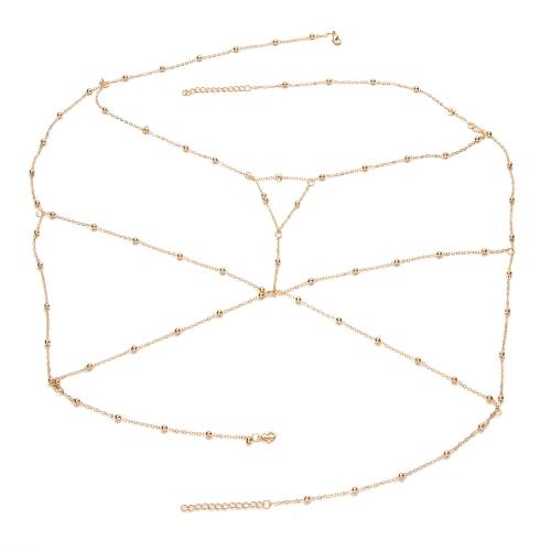 Moda Retro Sexy Ciało Chain Copper Beads Chest Chain Obojczyka Chain Jewelry Accessory