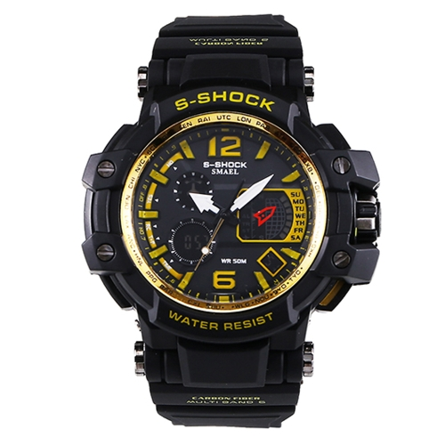 Men's Stylish Sports Multi-function Electronic Watch impermeabile Dual Display da polso