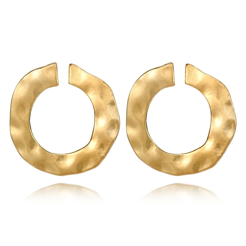 Brincos circulares da geometria irregular da forma para mulheres e as meninas Orelha redonda prendem acessórios com liga de zinco