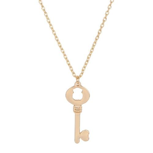 Moda divertente orso amore chiave pendente clavicola catena lega signora accessori gioielli collana