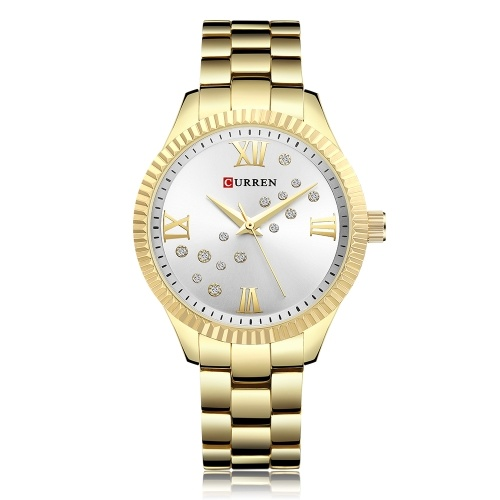 CURREN 9009 donne orologio da polso al quarzo movimento orologio da polso semplice regalo causale per le donne