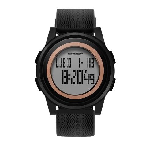 SANDA 319 Elektronische Sportuhr Männer Wasserdichte Uhren Digital LED Rücklicht Armbanduhr für Männliche Uhr
