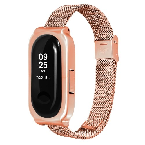 Image of Metallarmband Kompatibel mit Xiaomi Mi Band 3 Armband Schraubenloses Edelstahlarmband Armband Uhrenarmband