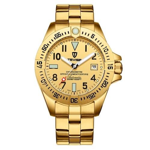 TEVISE T839A Business Men Orologio meccanico automatico orologio calendario Display Fashion Casual luminoso mani 3ATM impermeabile orologio da polso maschile