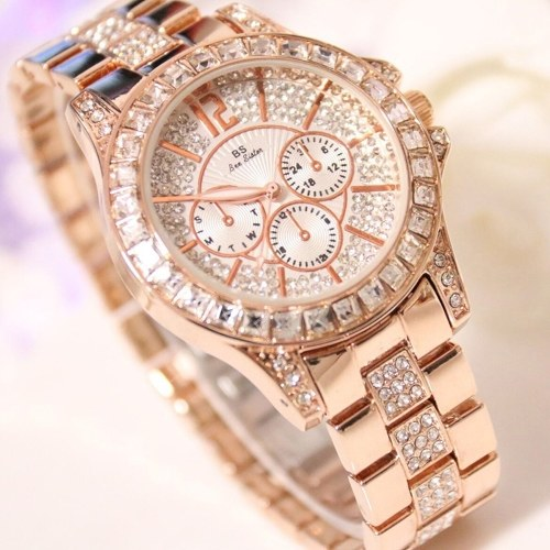 Stylish Women Quartz Watches Rhinestone Diamond Casual Wristwatch for Ladies Lady Watches Elegance Wristwatches