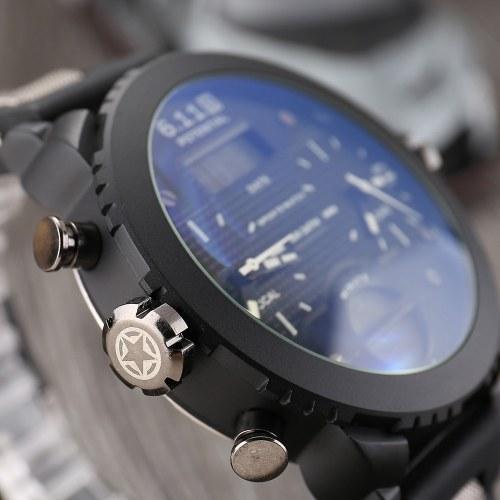6.11 Мужские наручные часы на открытом воздухе с силикагелем Многофункциональные водонепроницаемые цифровые наручные часы фото